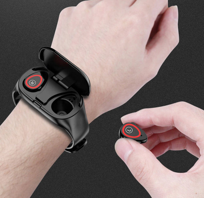 Smart náramek s bezdrátovými TWS sluchátky MXM M1